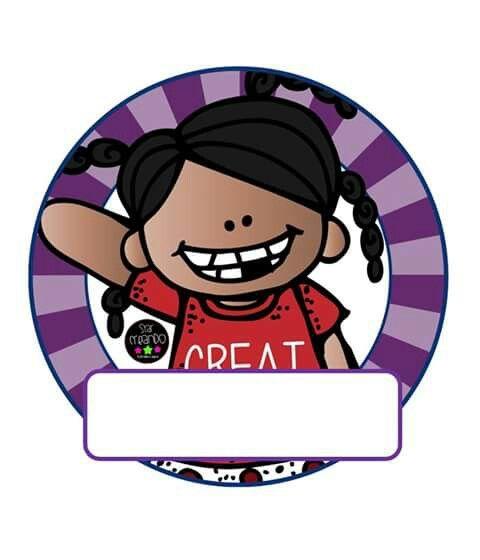 Gafete Para Niños Distintivos Marcos Para Etiquetas Imagenes