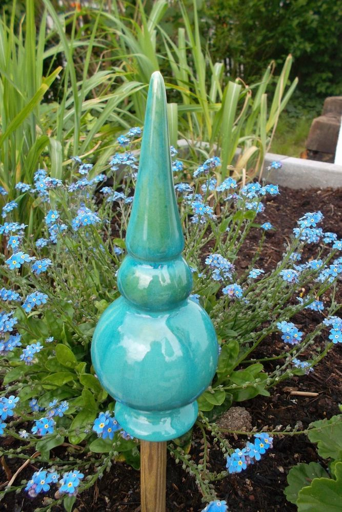 Rosenkugel Gartenkeramik Handarbeit Zaunhocker Insektenhotel Keramik Blumen Ton