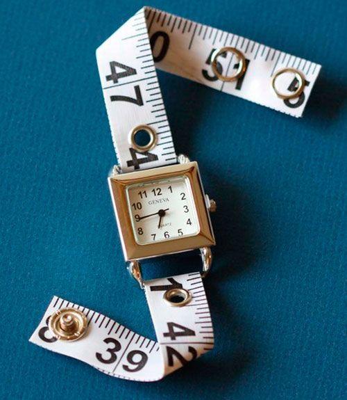 Tape-measure watch