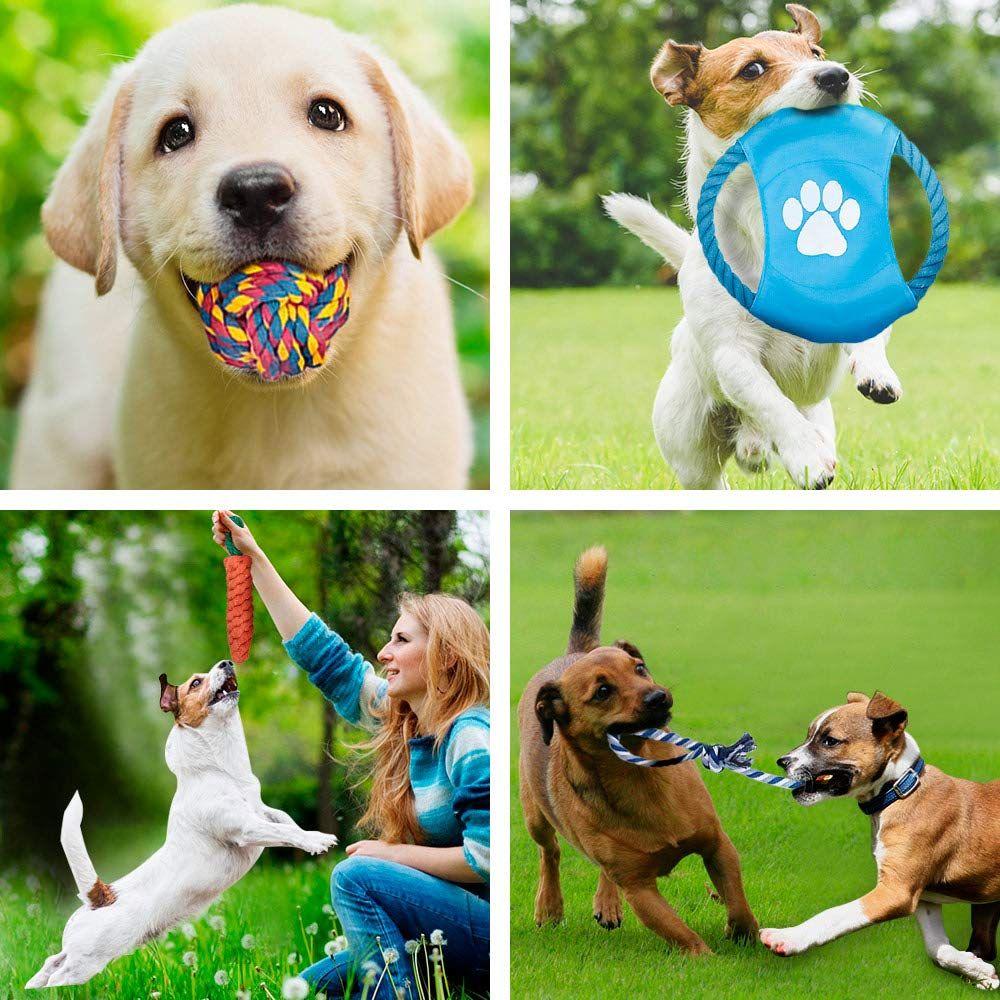 Delomo Dog Rope Toys 12 Pack Dog Rope Toys Dog Chew Toys Dog Playing Toys Washable Nearly Indestructible 100 Natural Cotton Dog Rope Toy Set Teething Toy