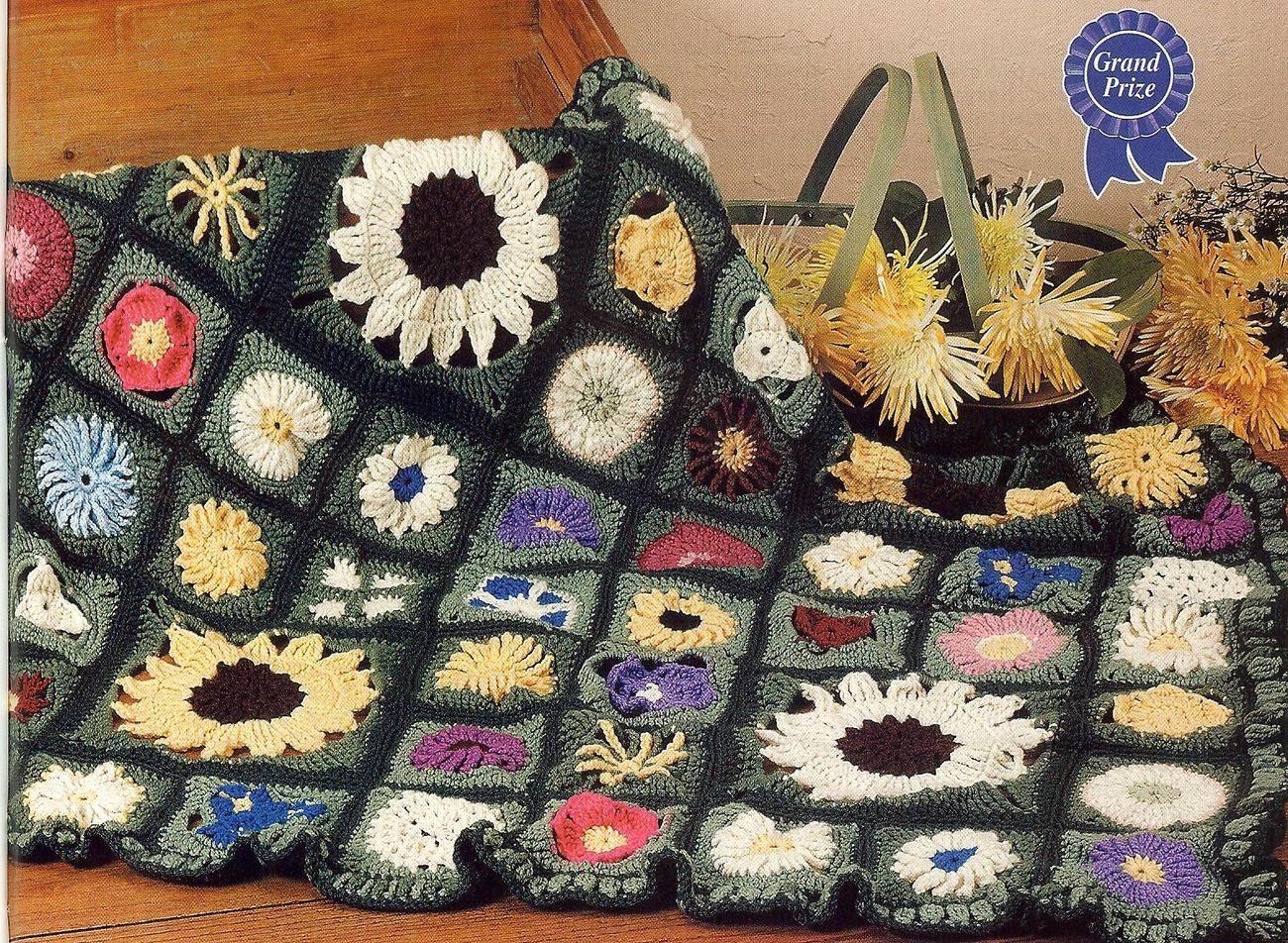 Award winning field of flowers crochet afghan pattern crochet crochet flower square afghan patterns award winning field of flowers crochet afghan pattern afghans dt1010fo