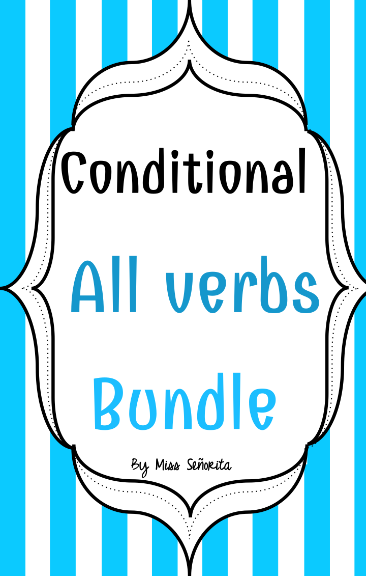 worksheet Conditional Tense Spanish Practice Worksheets spanish conditional tense bundle activities and bundle