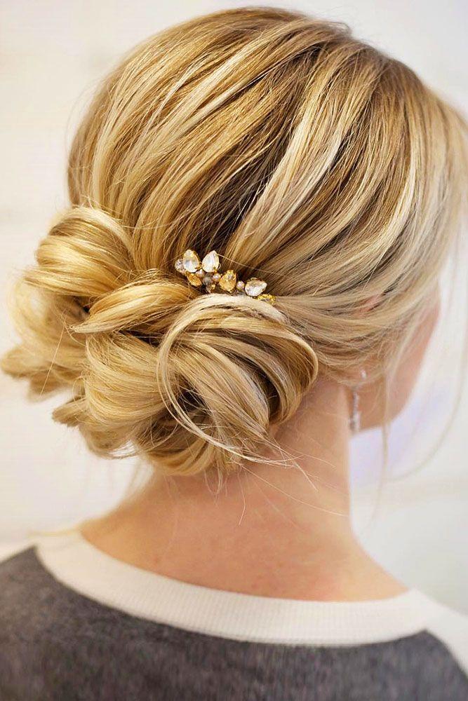 30 Eye-Catching Wedding Bun Hairstyles | hair | Pinterest ...