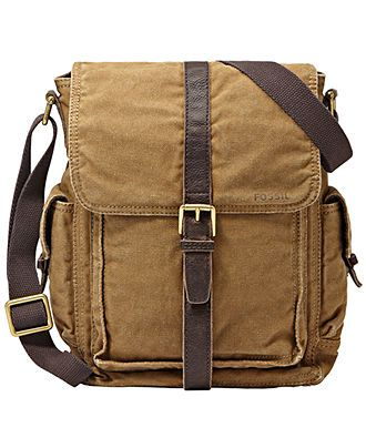 ed88b970e314 Fossil Estate Casual Cotton Canvas North-South Commuter Bag - Bags    Backpacks - Men - Macy s