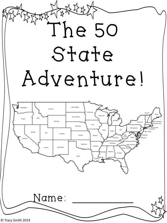 50 States - The 50 State Adventure! Learn about all the states - research project report