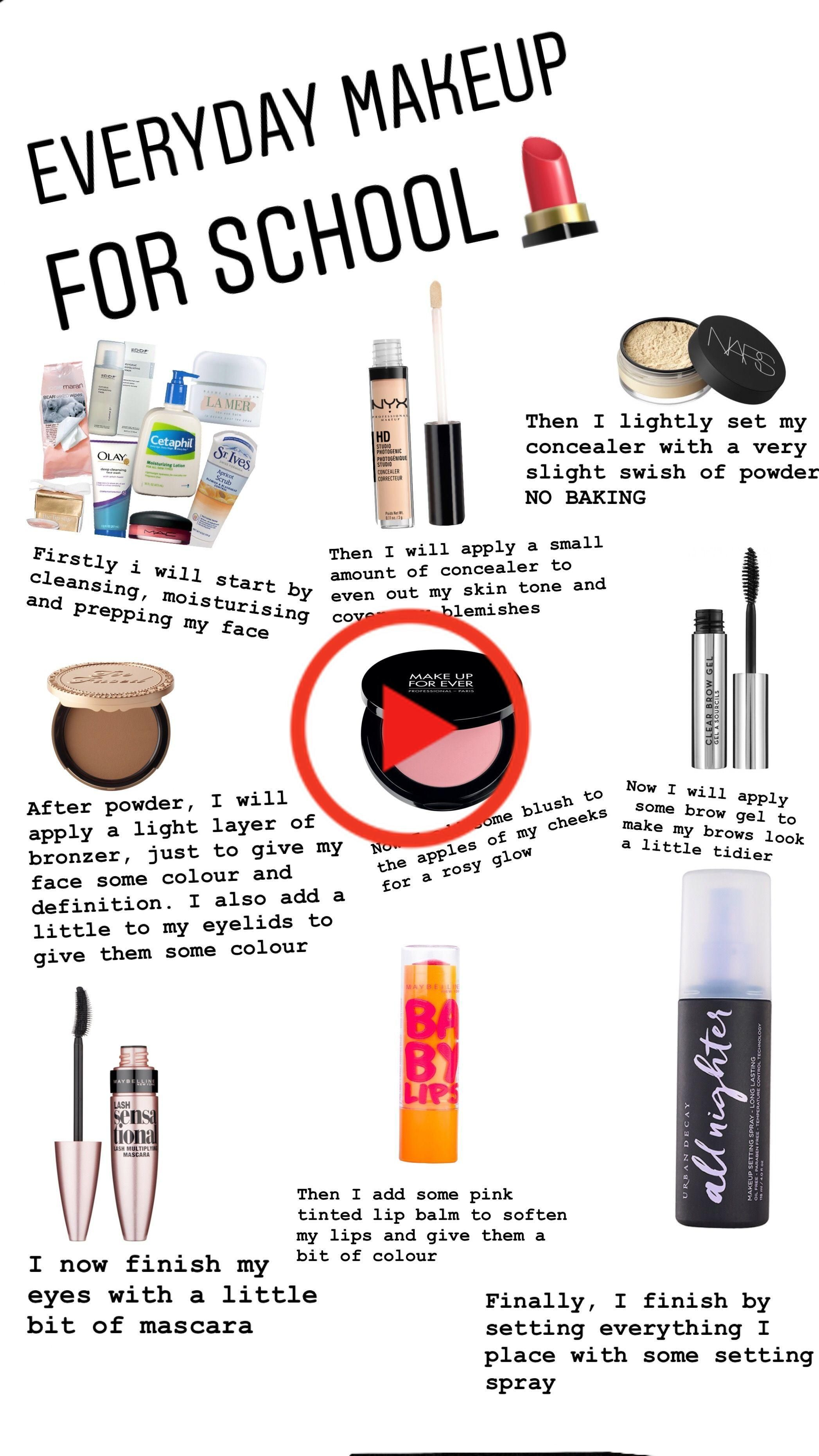 maquillaje todos los días in 2020 Makeup routine
