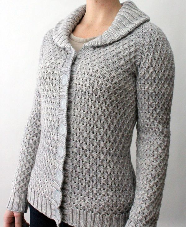 Textured Knitting Patterns : Knitting pattern beacon hill cardigan top down