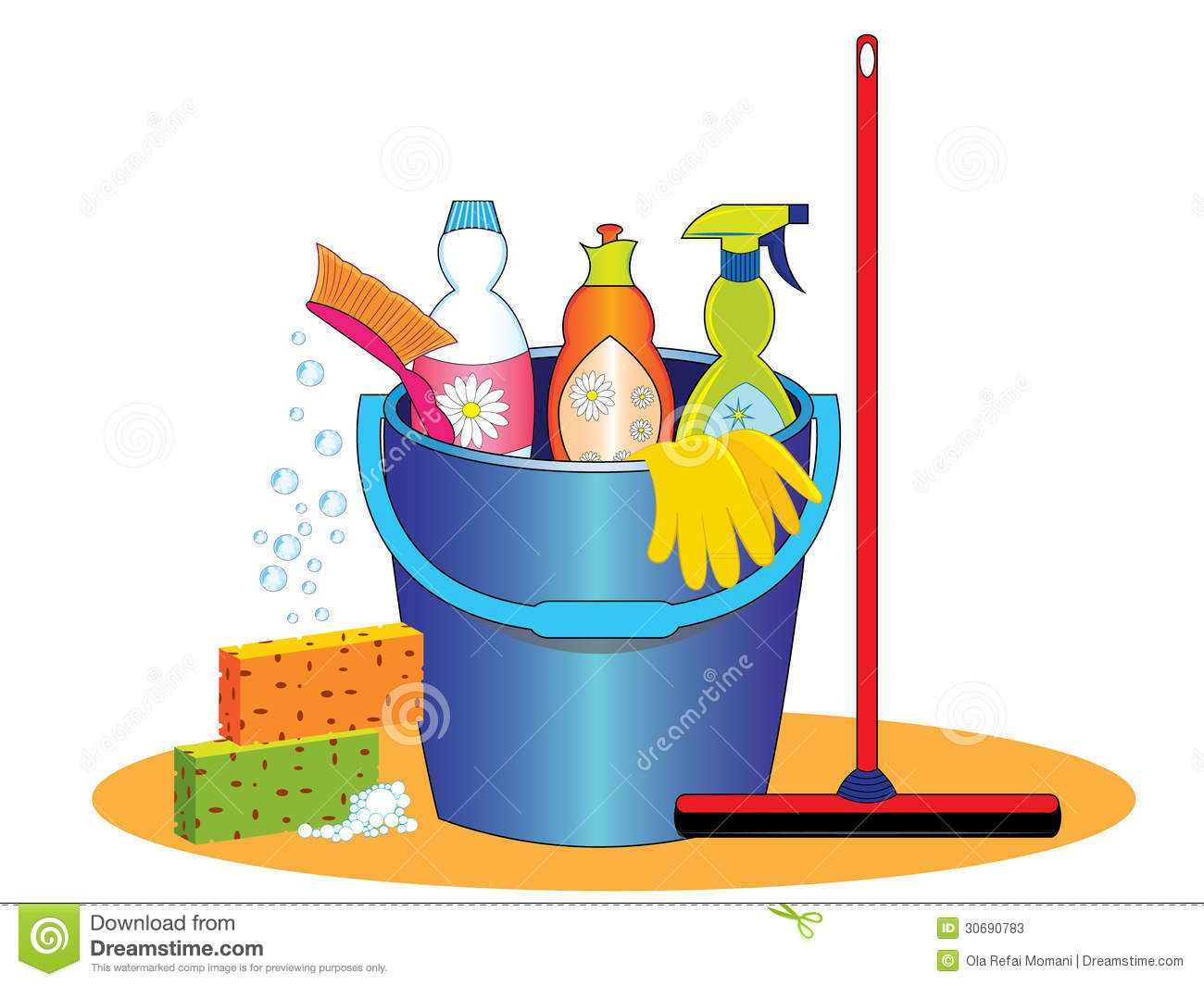 free clipart kitchen cleaning - photo #36