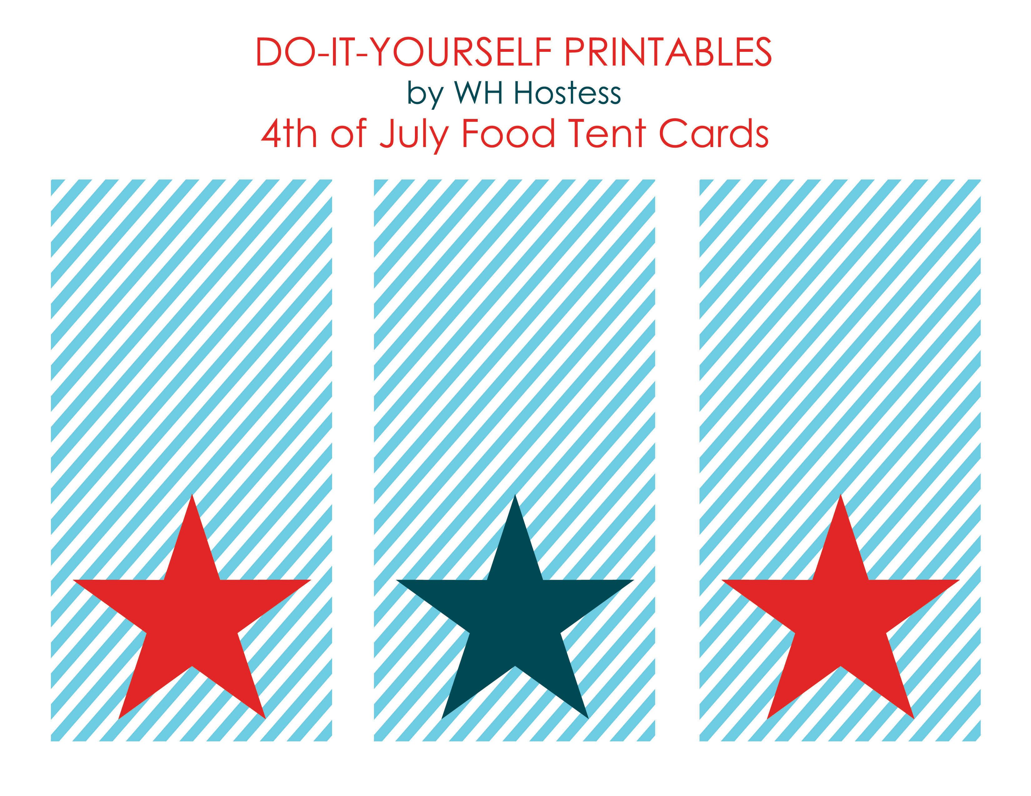 50 Independence Day July 4th Free Printables Craftionary Tent Cards Independence Day July 4 4th Of July 4th of july cards printable