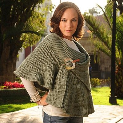 2034 Bc Ruffle Cape In Garter Free Knit Knit Pinterest