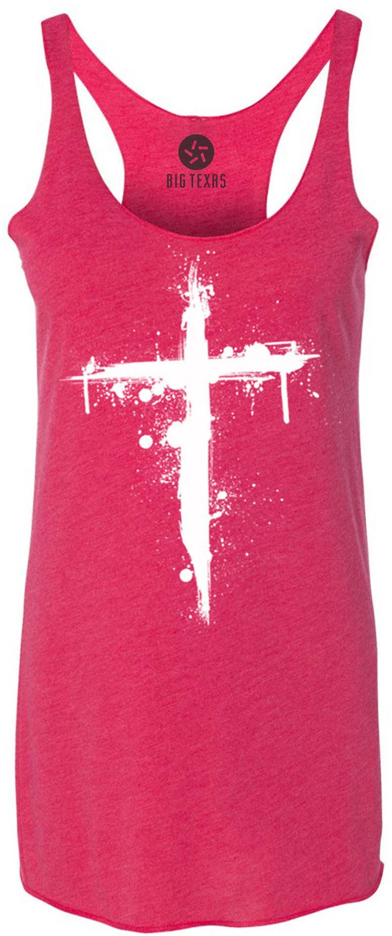 Cross (White) Tri-Blend Racerback Tank-Top