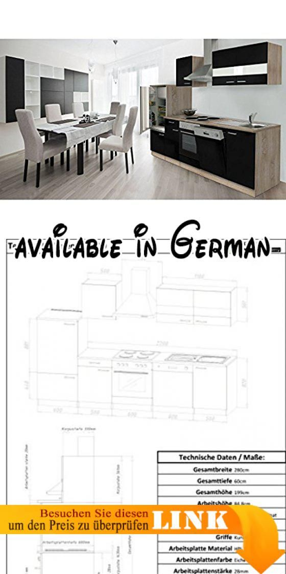B01EN954YA  respekta Küche Küchenzeile Küchenleerblock Leerblock - küchenschrank griffe edelstahl