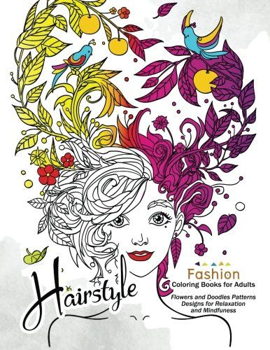 HairStlye Fashion Coloring Books Amazing Flower And Doodle Pattermns Design AMAZON BEST SELLER