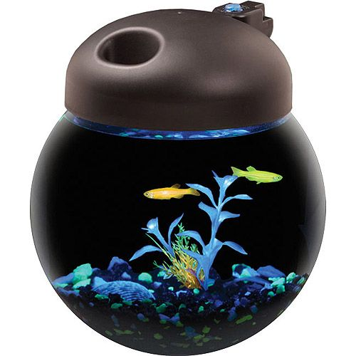 Aqua culture betta fish globe bowl aquarium with mutli for Betta fish tanks walmart