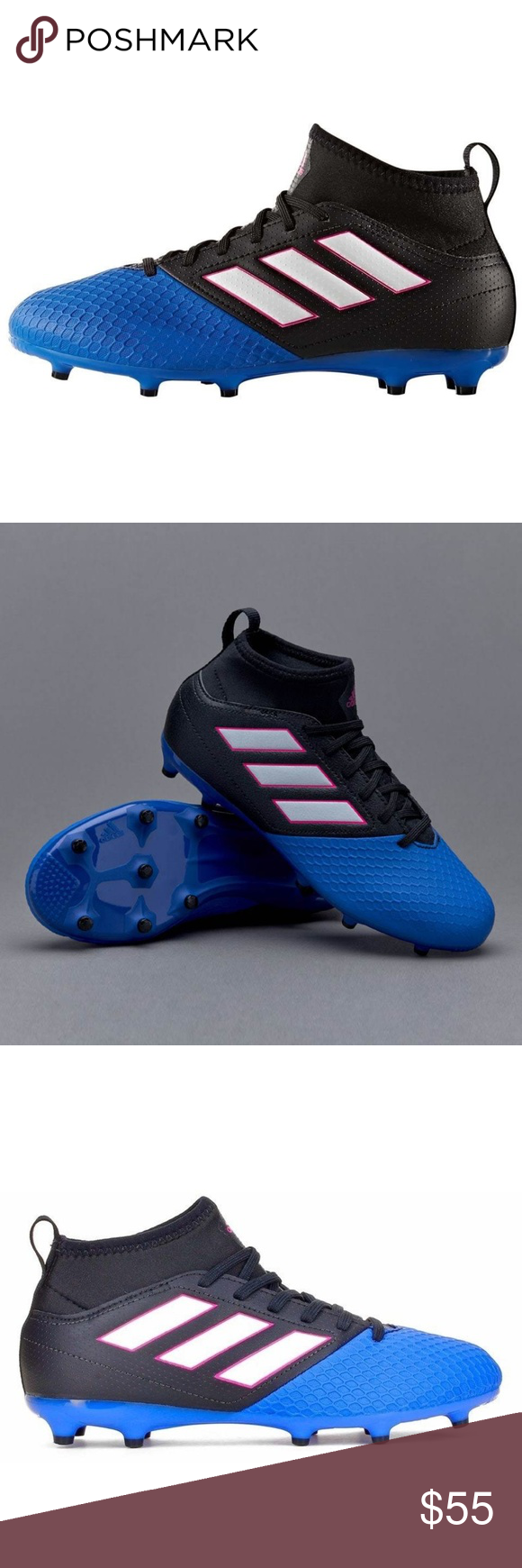 b716923dd3c Adidas Kids Sizes 4 Ace Soccer Cleats NEW Adidas Ace 17.3 FG J Primemesh  Firm Ground Cleats Soccer Shoes BA9234 Youth Size 4 and 4.5 available adidas  Shoes
