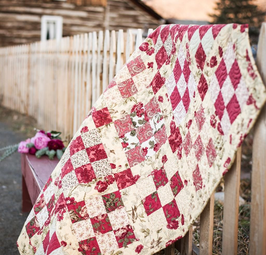 9 Inspiring Rose Quilt Designs | Patches, Moda and Rose : three sisters quilt shop - Adamdwight.com