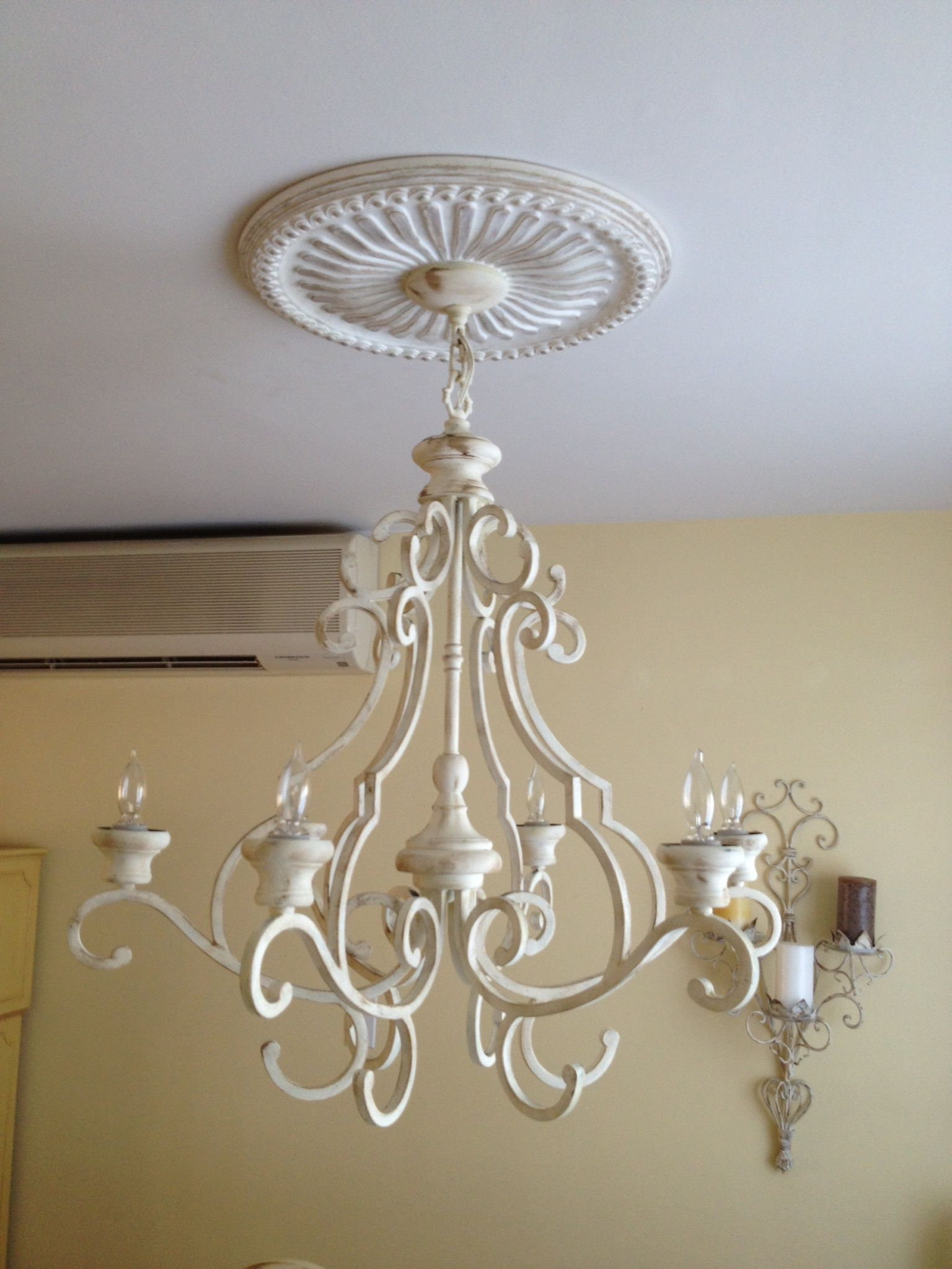 How To Paint A Chandelier With Chalk