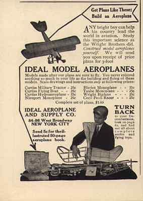 Ideal Model Aeroplanes 1917 Toy AD Ideal Aeroplane and Supply New York City