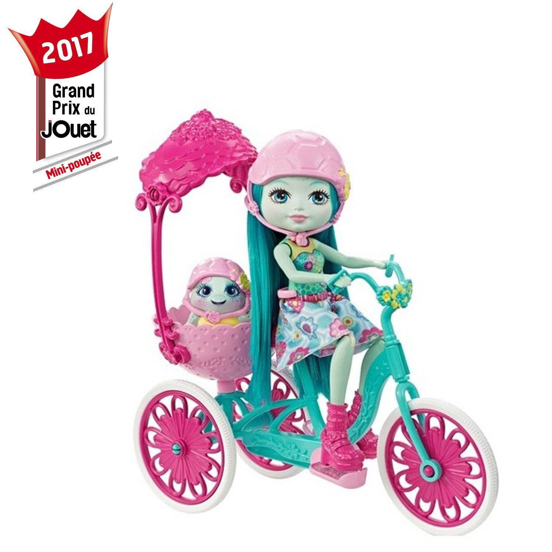 Poupée taylee tortue sortie de vélo ENCHANTIMALS à Prix Carrefour