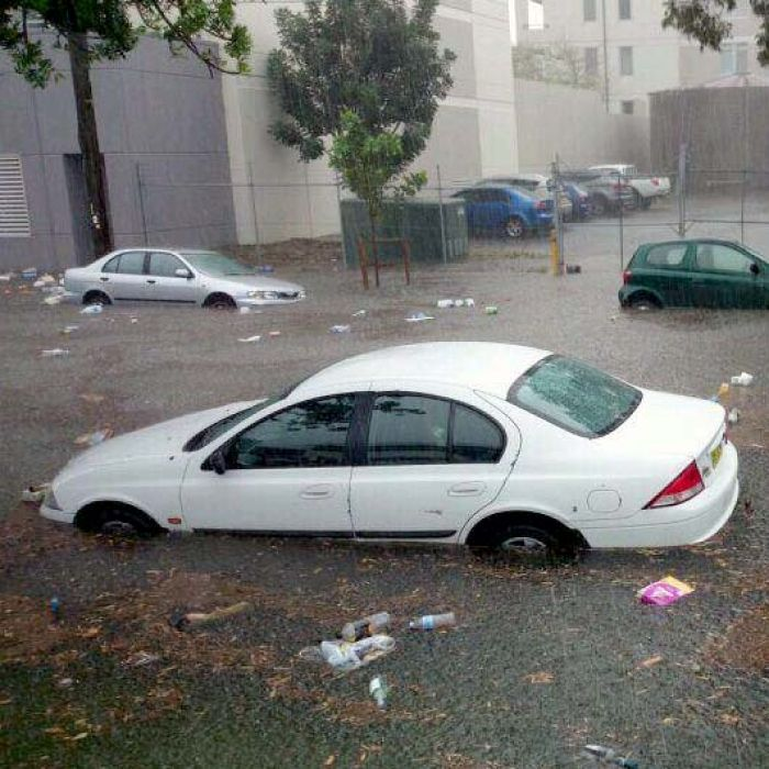 Flash flooding in the Sydney suburb of Roseberry, New South Wales  Taken by Cam O'Neill  24/03/2014
