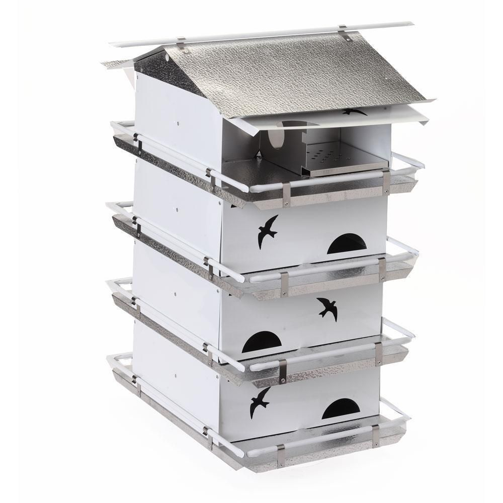 Birds Choice Watersedge Purple Martin House 4 Floor 8 Room Pre Assembled Ships Within 7 to 10 Business Days