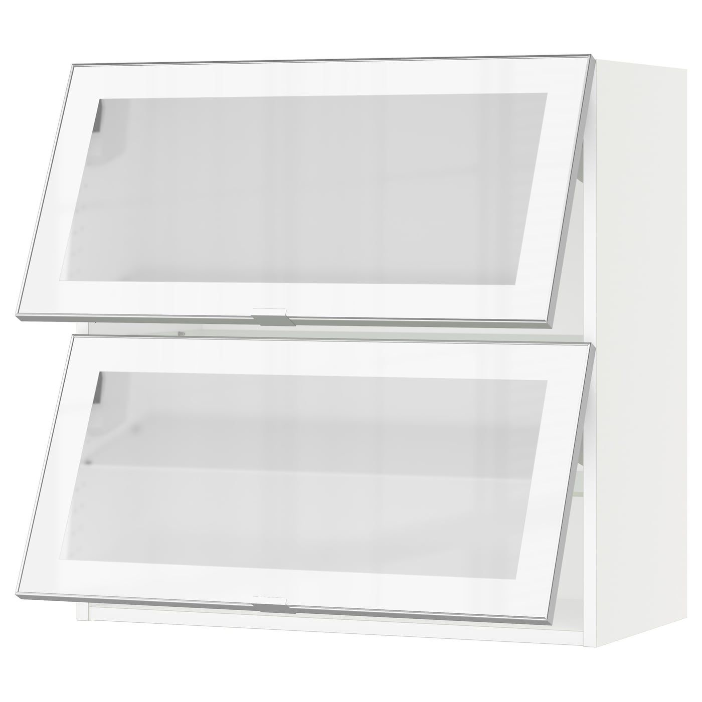 Sektion Horizontal Wall Cabinet 2glass Door White Jutis Frosted Glass 30x15x30 Ikea In 2020 Wall Cabinet Kitchen Wall Cabinets Frosted Glass