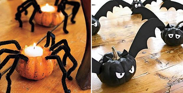 d co diy pour halloween citrouille araign e araign es et halloween. Black Bedroom Furniture Sets. Home Design Ideas