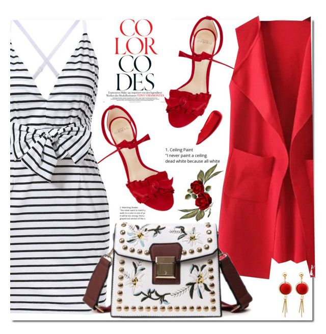 """""""Striped Dress"""" by edy321 ❤ liked on Polyvore featuring Alexandre Birman, WithChic and Sisley"""