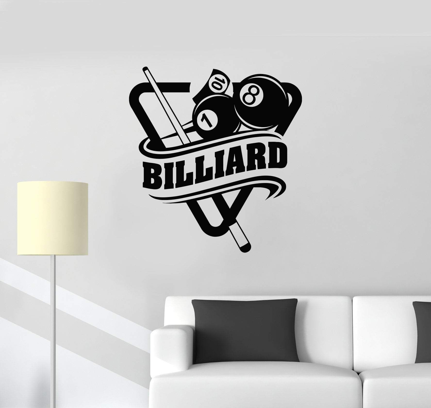 vinyl wall decal poolroom billiard interior decor room art on wall stickers for hall id=67434