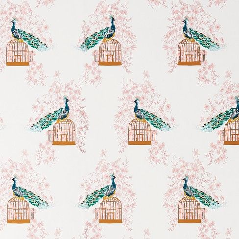 Peacock Peel Stick Removable Wallpaper Opalhouse In 2019