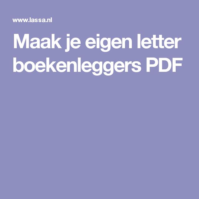 Maak je eigen letter boekenleggers PDF