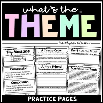 Theme Lessons and Task Cards | Worksheets, Cards and Students