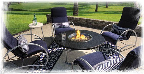 Homecrest S Cirque Cushion Collection Fire Pit Patio Set Modern Patio Furniture Patio