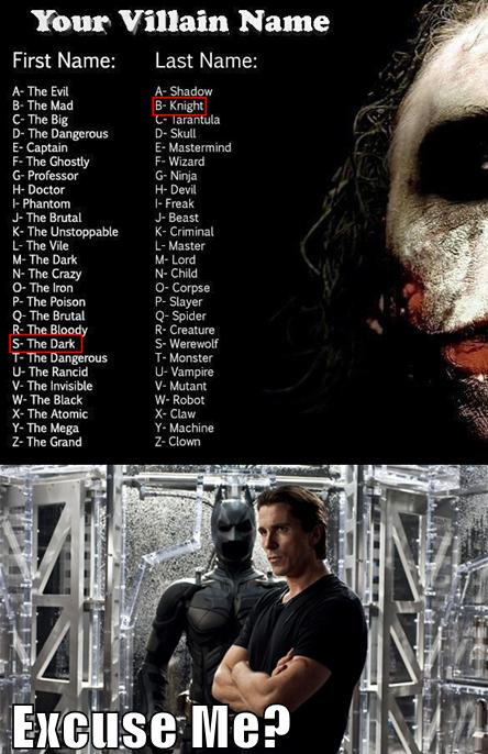 villain names =) I got the the unstoppable corpse!!! I'm