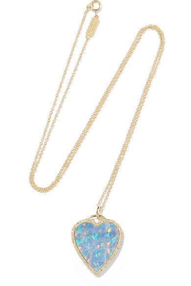 Mauvais Oeil Or 18 Carats, Turquoise Et Collier De Diamants - Taille Jennifer Meyer