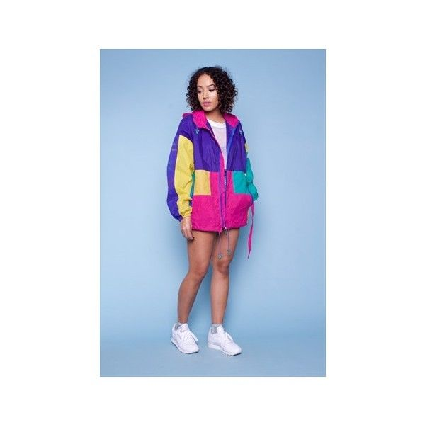ADIDAS 90s Vintage Windbreaker ($65) ❤ liked on Polyvore