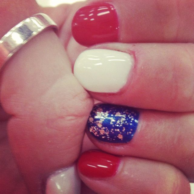 Nicki S Independence Day Fourth Of July Stars And Stripes Gel Shellac Nails Hy 4th