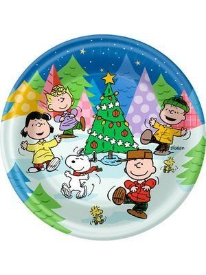 Merry Christmas Peanuts Snoopy Charlie Brown Banquet Party Paper Napkins