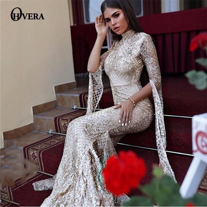 12f657199ecaa Ohvera Mesh Sequin Bodycon Dress Women Sexy Summer Party Dresses ...