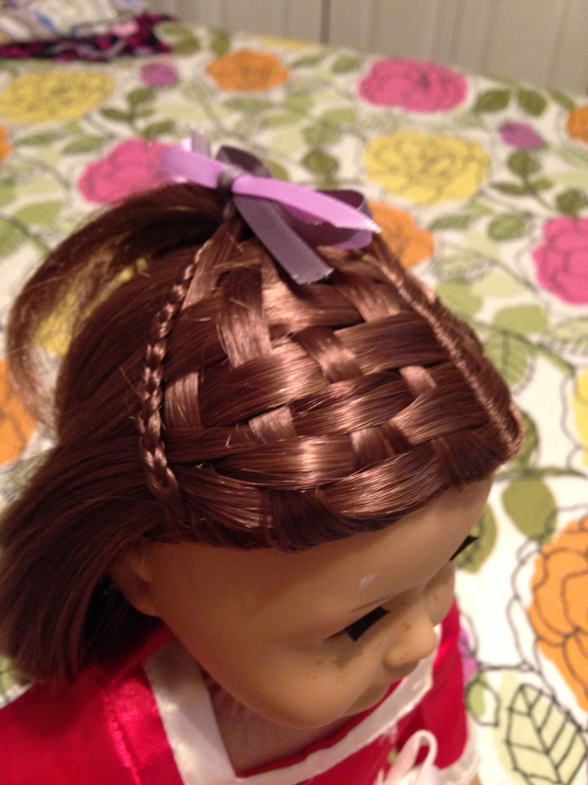 American girl doll hair salon The basket weave braid is incredible