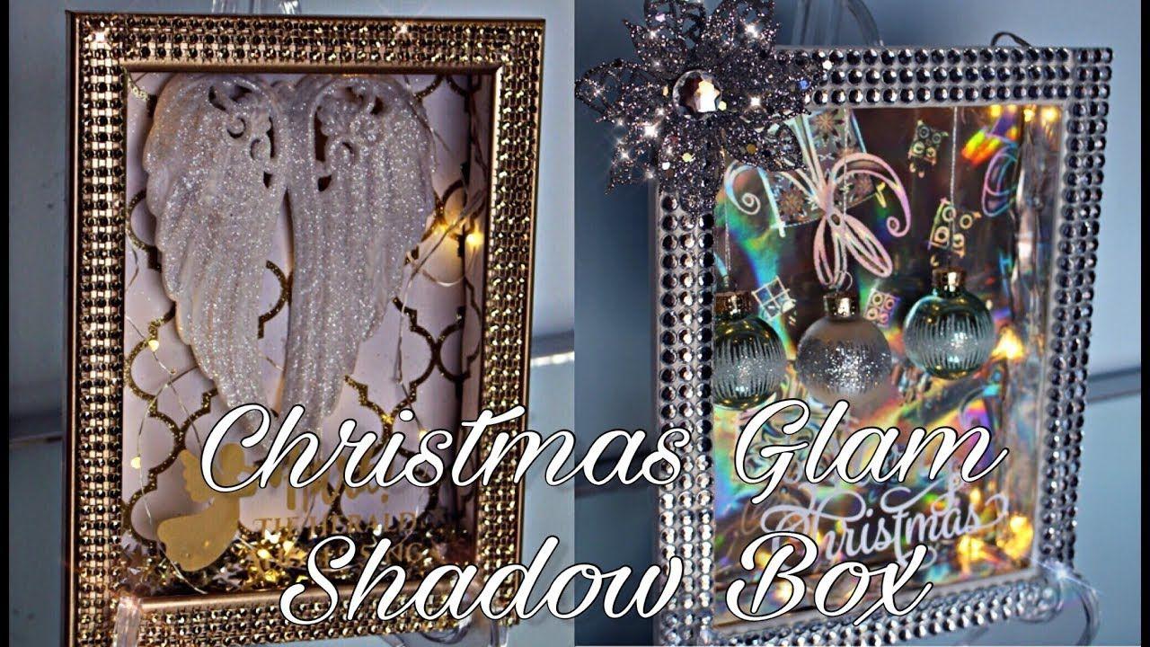 Diy dollar tree christmas glam shadow box decor 3