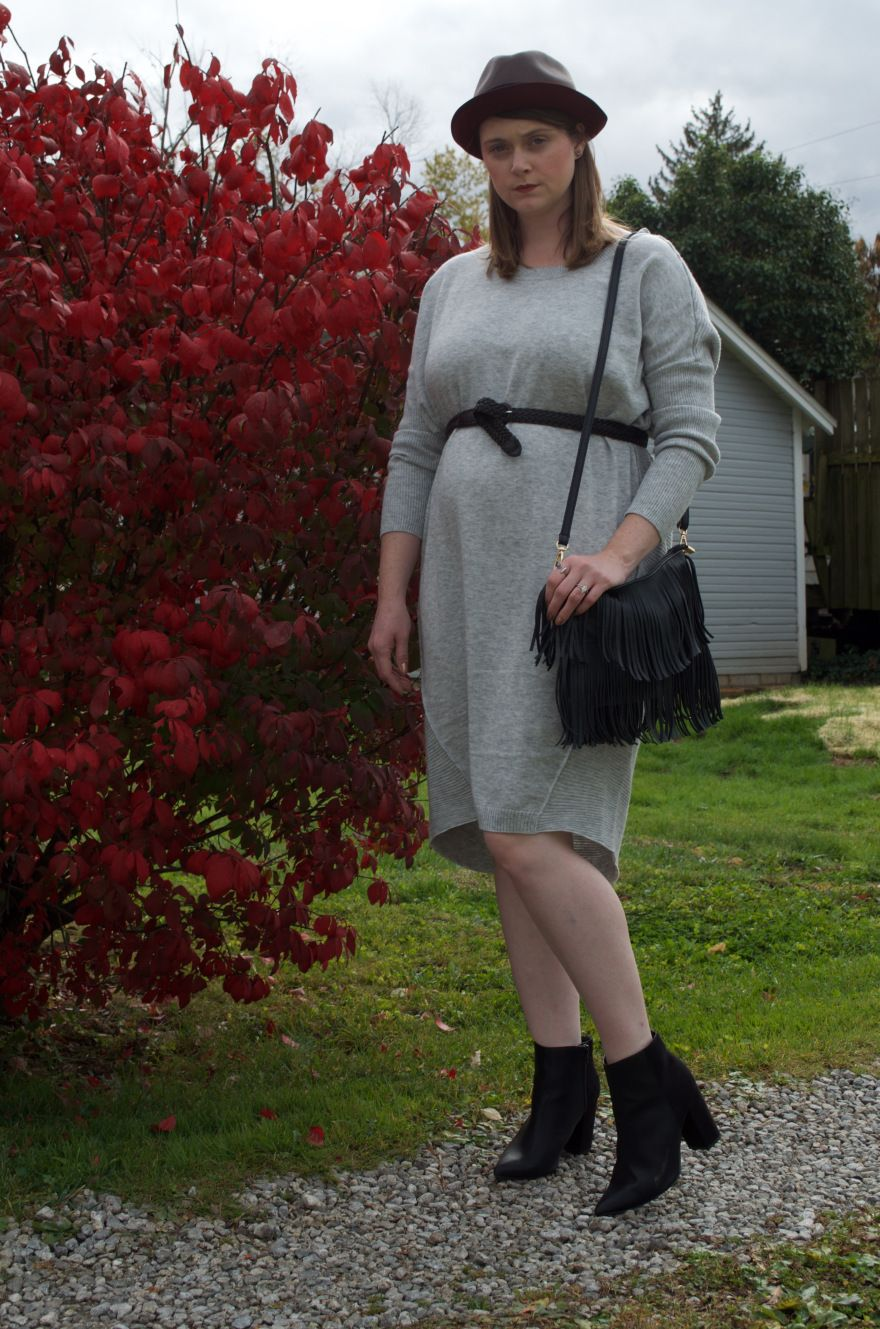 Fall maternity style sweater dress maternity style pinterest