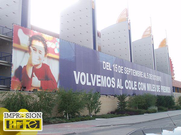 Lonas de Gran Tamaño Impresionarte SL Comunicación Exterior Madrid