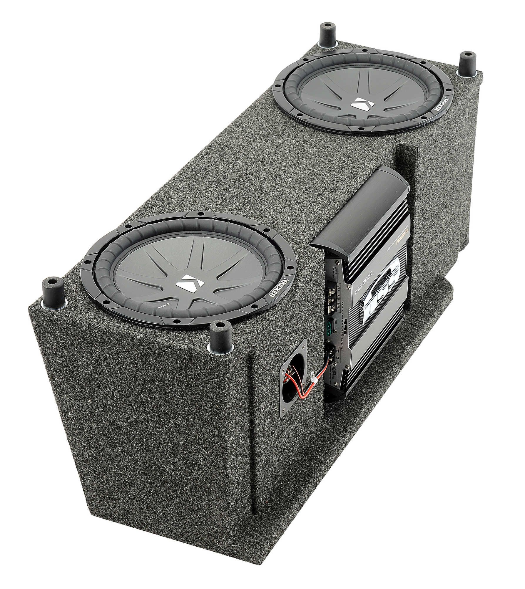 Custom Rear Dual Subwoofer Kit With 10 Kicker Compvr