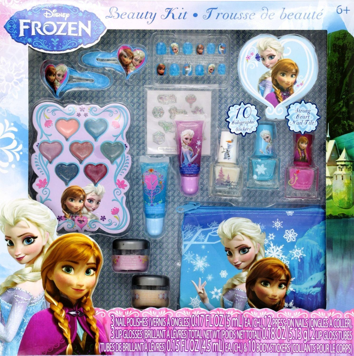 12 Piece Disney S Frozen Beauty Cosmetic Set For Kids Frozen Beauty Play Kit For Kids Toys Games On Amazon Com Disney Frozen Elsa Disney Frozen Beauty Kit