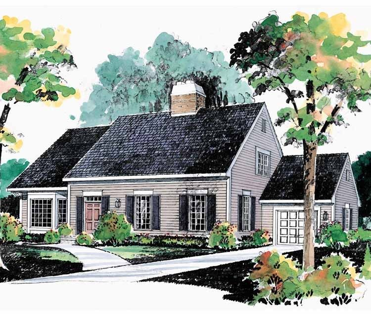 Eplans Cape Cod House Plan Expandable Plan 1782 Square Feet and – Cape Cod House Plans With Attached Garage