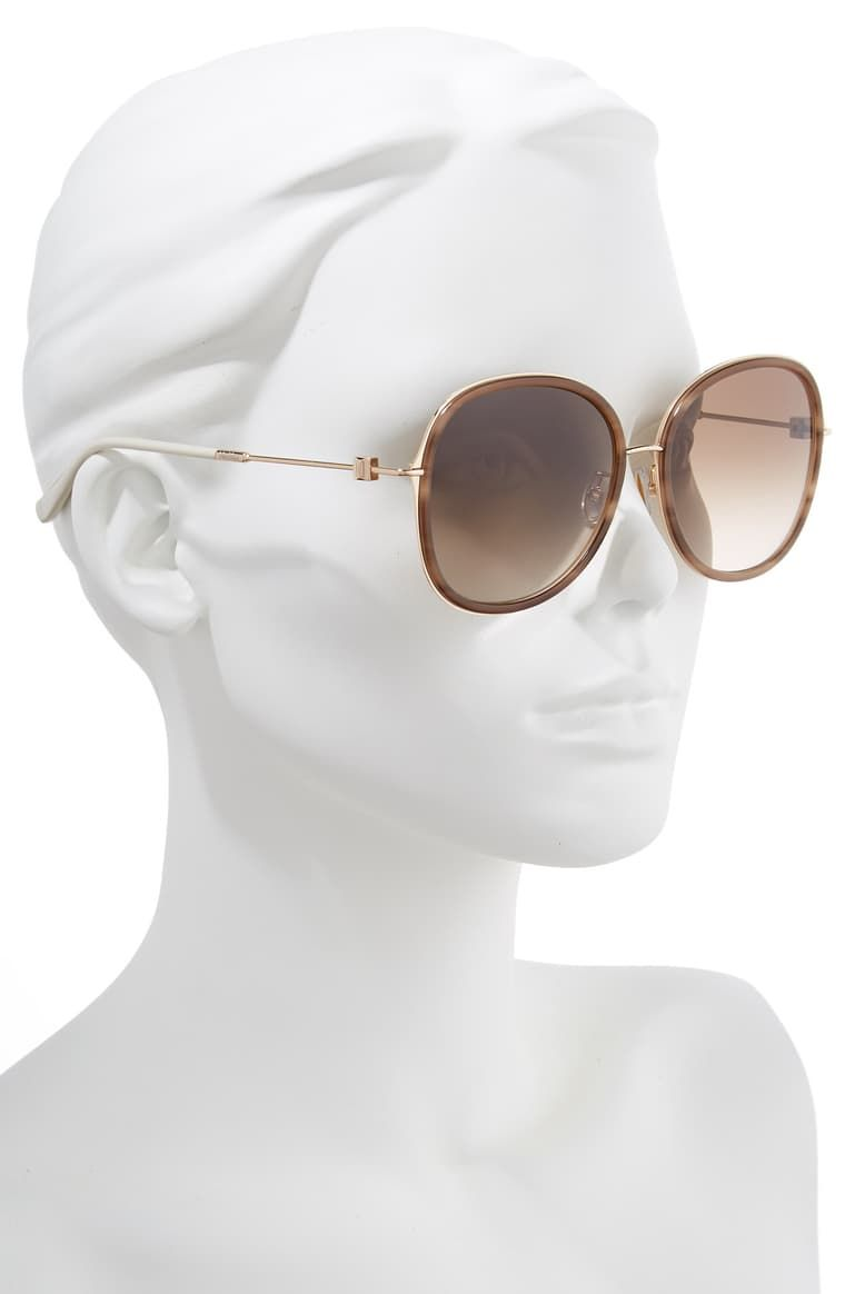 Max Mara Marilyn 58mm Special Fit Round Sunglasses | Nordstrom