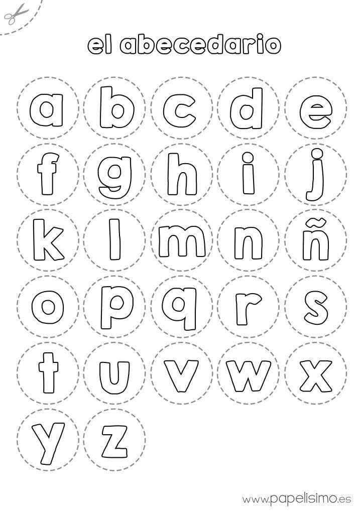 ABECEDARIO RECORTAR minusculas | Letras | Pinterest | Abecedario ...
