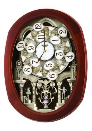 Found It At Clockway Com Rhythm 30 Melodies Wooden Musical Motion Wall Clock Including Holiday Melodies Gtm2620 Rhythm Clocks Clock Wall Clock