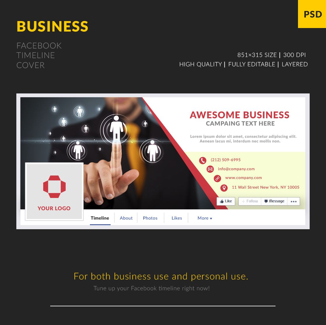 Free Business Facebook Cover Template Freebies Pinterest